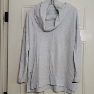 Calvin Klein grey cowl neck athleisure  top